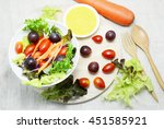 fruit and vegetable salad | Shutterstock . vector #451585921