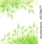 vector spring card with green... | Shutterstock .eps vector #45158677