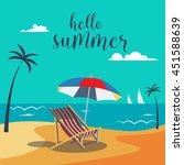 hello summer poster. tropical... | Shutterstock .eps vector #451588639
