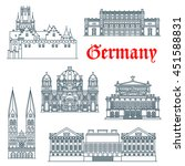 german architecture landmark... | Shutterstock .eps vector #451588831