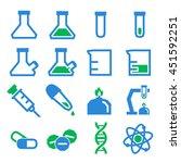 lab beakers icon set | Shutterstock .eps vector #451592251
