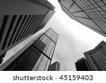 High Business Buildings  Black...