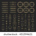 vintage set exclusive borders... | Shutterstock .eps vector #451594621
