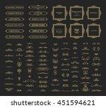 vintage set exclusive borders... | Shutterstock .eps vector #451594621