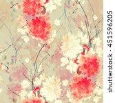 imprints sakura and... | Shutterstock . vector #451596205