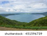 view of apoyo lagoon from... | Shutterstock . vector #451596739