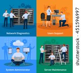 network engineer and it... | Shutterstock .eps vector #451596997