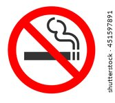 no smoking sign on white... | Shutterstock . vector #451597891