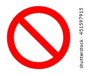 prohibition sign isolated on a... | Shutterstock . vector #451597915