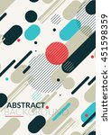simple universal geometric... | Shutterstock .eps vector #451598359