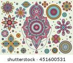 flower mandala. vintage...   Shutterstock .eps vector #451600531
