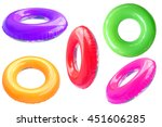 group of colorful swim ring... | Shutterstock . vector #451606285