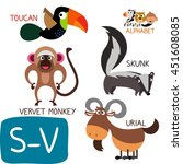 Animal Zoo Alphabet. Letter S ...