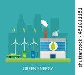 ecology infographic vector... | Shutterstock .eps vector #451611151