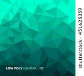 aqua blue abstract geometric... | Shutterstock .eps vector #451625359