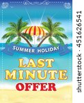 last minute offer. summer... | Shutterstock .eps vector #451626541