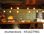 blur cafe or bar counter... | Shutterstock . vector #451627981
