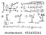 physical equations on... | Shutterstock .eps vector #451633261