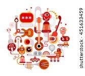 futuristic recording studio... | Shutterstock .eps vector #451633459