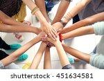 many friends hands | Shutterstock . vector #451634581