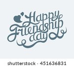 happy friendship day hand... | Shutterstock .eps vector #451636831