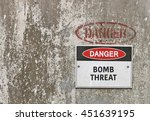 red  black and white danger ... | Shutterstock . vector #451639195