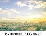 Blur Big City Concept. Aerial...