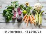 variety of vegetables and... | Shutterstock . vector #451648735