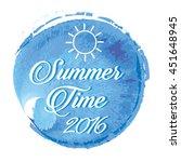 summer lettering on orange... | Shutterstock .eps vector #451648945