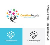 creative people logo | Shutterstock .eps vector #451649527