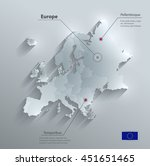 europe political map flag glass ...   Shutterstock .eps vector #451651465