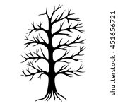 decorative tree silhouette... | Shutterstock .eps vector #451656721