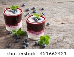fresh blueberry smoothies in a... | Shutterstock . vector #451662421