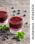 fresh blueberry smoothies in a... | Shutterstock . vector #451662424