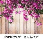 Pink Bougainvillea Flower On...