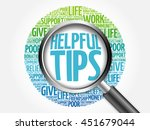 helpful tips word cloud with... | Shutterstock . vector #451679044