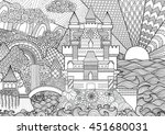 Zendoodle Castle Landscape For...