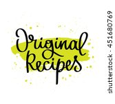 quote original recipes. the... | Shutterstock .eps vector #451680769