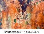 old floral wallpaper grunge... | Shutterstock . vector #451680871