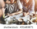 people friendship hangout... | Shutterstock . vector #451683871