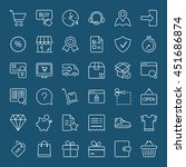 shopping icons set  thin line ... | Shutterstock .eps vector #451686874