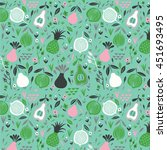 vector seamless pattern with... | Shutterstock .eps vector #451693495