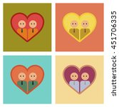 assembly flat icons gays in the ... | Shutterstock .eps vector #451706335
