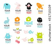big vector set with stylized... | Shutterstock .eps vector #451710109