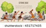 stone age war primitive men... | Shutterstock .eps vector #451717435