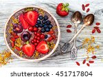 acai breakfast superfoods... | Shutterstock . vector #451717804