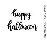 brush lettering happy halloween ... | Shutterstock .eps vector #451719691