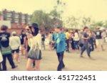 blurred of people walking in... | Shutterstock . vector #451722451