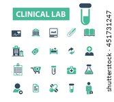 clinical lab icons | Shutterstock .eps vector #451731247