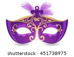 carnival mask   Shutterstock . vector #451738975